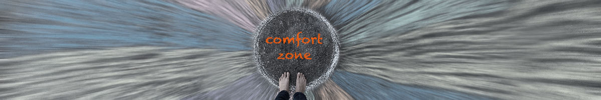 Person standing in comfort zone