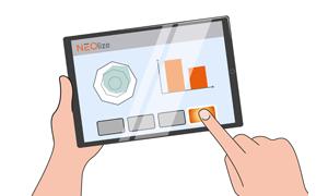 NEOlize® Feedback App auf Tablet